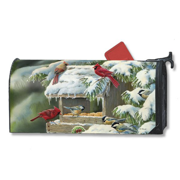 amazing Magnetic Mailbox Covers Part - 4: [Winter Feeder Mailbox Cover]