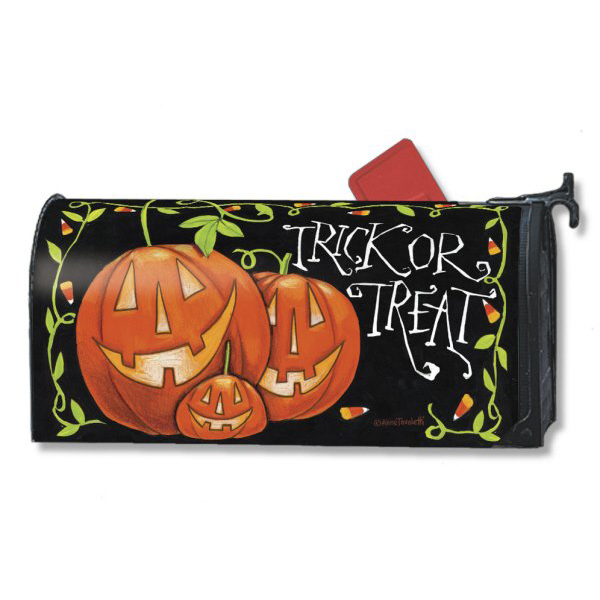 prodigious Magnetic Mailbox Covers Part - 5: Pumpkin Patch Cat, [Halloween Treat Mailbox Cover]
