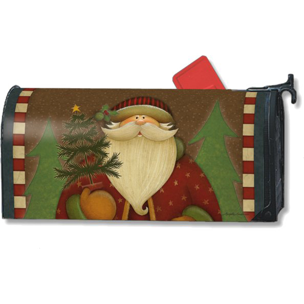 holiday gate santas forest mailbox cover