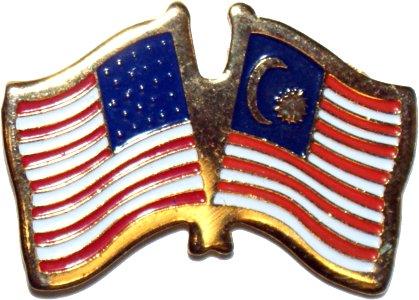 U S Malaysia Flag Pin