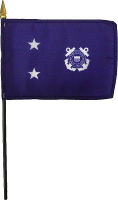 Coast Guard 2 Star Admiral Desk Flag