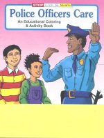 Police Officers Care educational coloring book