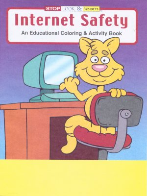 Internet Safety Coloring Book CB205 This Educational Activity Teaches Children