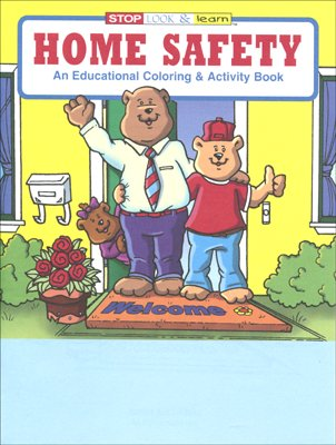 Home Safety Cb210 Educational Coloring Books Crw Flags