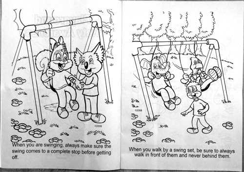 Playground Safety Awareness (CB249) Educational Coloring Books - CRW ...