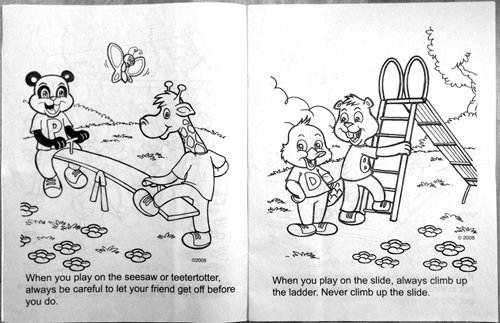 Playground Safety Awareness (CB249) Educational Coloring Books ...