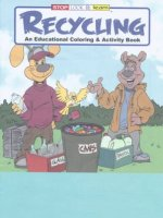 Recycling educational coloring book