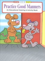 Practice Good Manners educational coloring book