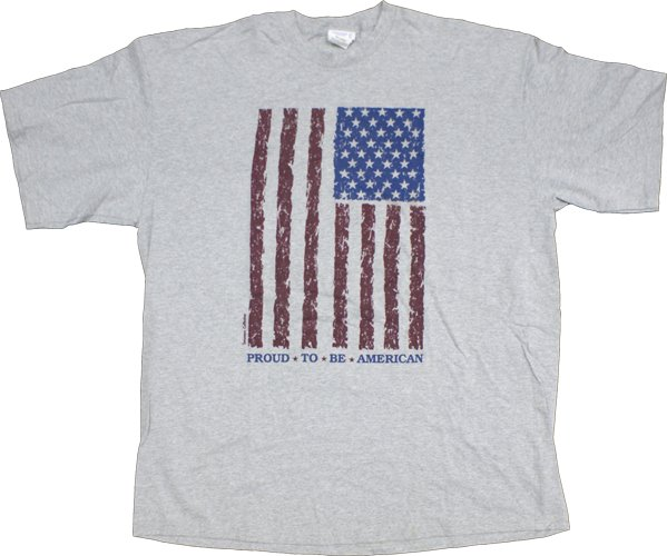 american flag shirt. Proud To Be American (Flag)