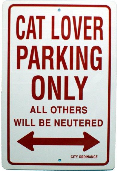 Novelty Car Parking Signs