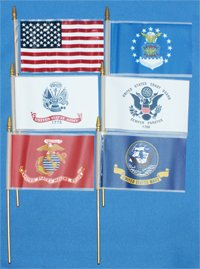 Plastic Military Flags