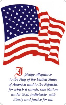 picture regarding Texas Pledge Printable known as Pledge of Allegiance Wallet Playing cards - CRW Flags Shop within Glen