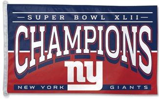 New York Giants Super Bowl XLII Banner Pin