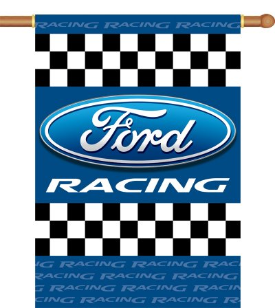 Auto Racing Flags  Banners on Ford Racing Banner Flag