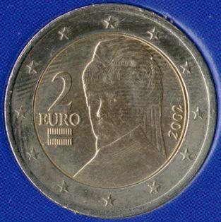 National Flag On Austrian Euro Coins Austria