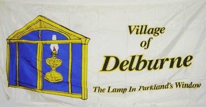 [flag of Delburne]