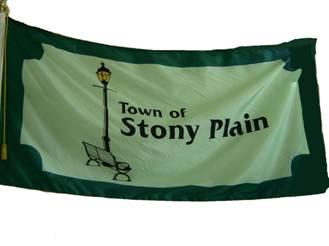 [flag of Stony Plain]