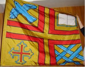 [flag of Lacombe]