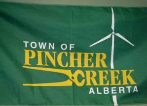 [flag of Pincher Creek]