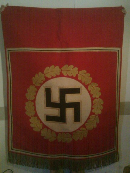 podium and decorative banners of the third reich  germany