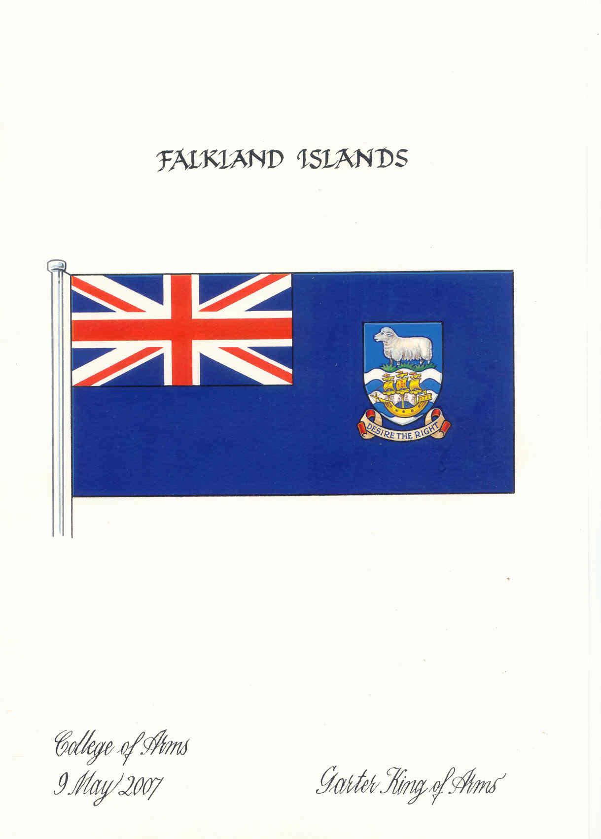 3/' x 2/' Falkland Islands Flag British Great Britain The Falklands Banner