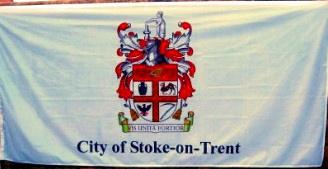[Flag of Stoke-on-Trent, England]