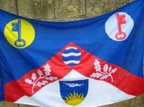 [Flag of Borough of Sutton, England]