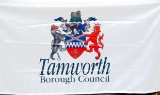 [Flag of Tamworth, England]