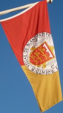 [Flag of Blandford Forum, Dorset]