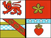 [Banner of arms of Angus council]
